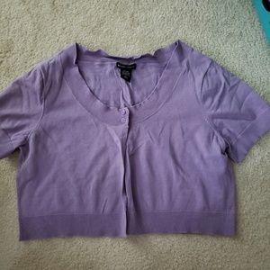 L NY&CO purple shrug